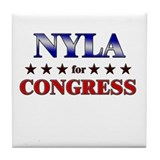 NYLA for congress Tile Coaster