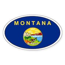 Montana State flag Oval Decal