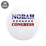 "NORAH for congress 3.5"" Button (10 pack)"