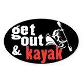 Get Out & Kayak Oval Decal
