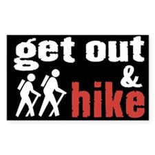 Get Out & Hike Rectangle Decal