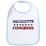 NICOLETTE for congress Bib