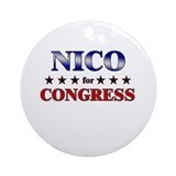 NICO for congress Ornament (Round)