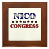 NICO for congress Framed Tile