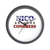 NICO for congress Wall Clock