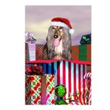 Afghan Hound Christmas Surprise Postcards (Package