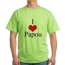 I Love (Heart) Papou T-Shirt