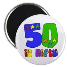 50 is Nifty (stars) Magnet