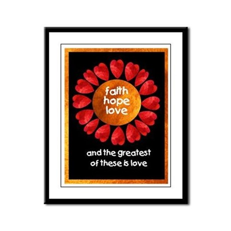 Faith Hope Love Framed Panel Print