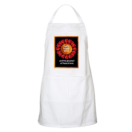 Faith Hope Love BBQ Apron