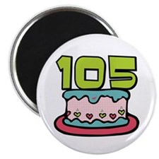 105th Birthday Cake Magnet