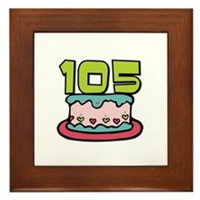 105th Birthday Cake Framed Tile