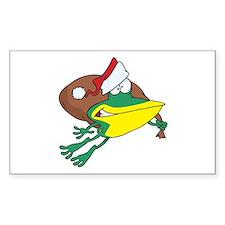 Christmas Frog Rectangle Decal