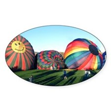 Helaine's Happy Ballooning Oval Decal