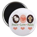 Peace Love Faith Christian Magnet
