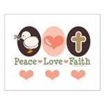 Peace Love Faith Christian Small Poster