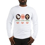 Peace Love Faith Christian Long Sleeve T-Shirt