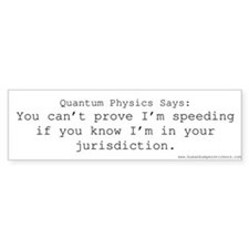 Quantum Physics #2 Bumper Bumper Sticker
