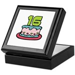 16th Birthday Cake Keepsake Box