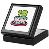 19th Birthday Cake Keepsake Box