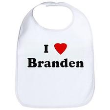 I Love Branden Bib