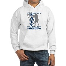 Grndpa Fought Freedom - NAVY Hoodie