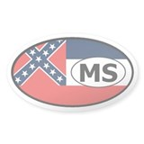 Mississippi State Flag Oval Decal