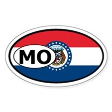 Missouri State Flag Oval Decal