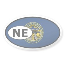 Nebraska State Flag Oval Decal
