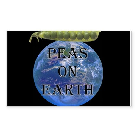 Peas on Earth Rectangle Sticker