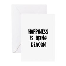 Happiness is being Deacon Greeting Cards (Pk of 10