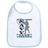 Best Friend Fought Freedom - NAVY  Bib