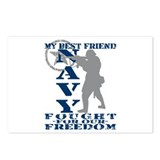 Best Friend Fought Freedom - NAVY  Postcards (Pack