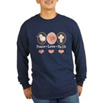 Peace Love Faith Christian Long Sleeve Dark T-Shir