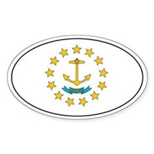 Rhode-Island State Flag Oval Decal