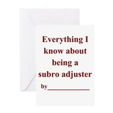 Subro Adj - All I know Greeting Card