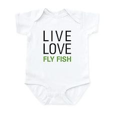 Live Love Fly Fish Onesie