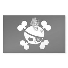 Punkin Pirate -bw Rectangle Decal