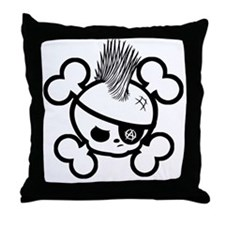 Punkin Pirate -bw Throw Pillow
