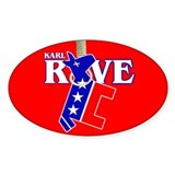 KARL ROVE Oval Decal