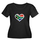 South Africa Love Heart Women's Plus Size Scoop Ne