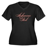 Arkansas Girl Women's Plus Size V-Neck Dark T-Shir