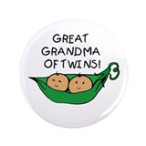 "Great Grandma Twins Pod 3.5"" Button"
