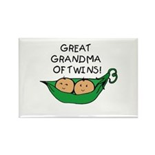 Great Grandma Twins Pod Rectangle Magnet