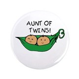 Aunt of Twins Pod 3.5&quot; Button