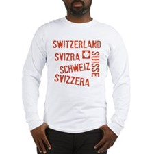 Switzerland Languages Long Sleeve T-Shirt
