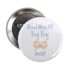 "Proud Mimi Of Boy Twins 2.25"" Button"