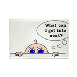 WHAT CAN I GET INTO NEXT? Rectangle Magnet (10 pac
