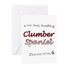 Clumber Breathe Greeting Card