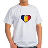 Romania Love Heart T-Shirt